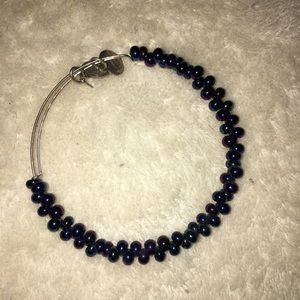 Alex and Ani purple and blue beaded bracelet